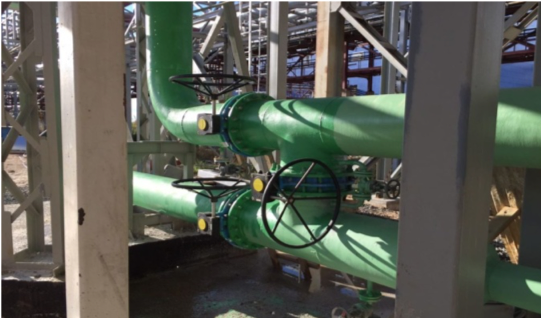 Установка дополнительного теплообменника для охлаждения диоксида углерода перед скруббером на предприятии АО «ФосАгро-Череповец».